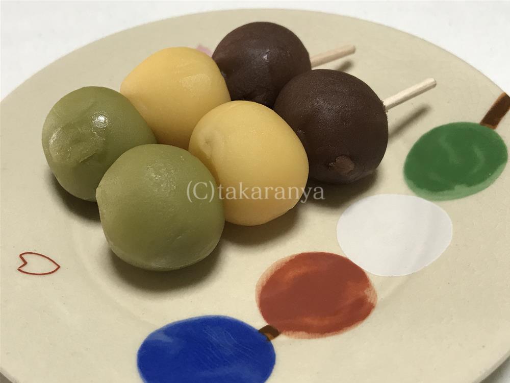 亀井製菓坊っちゃん団子on団子皿